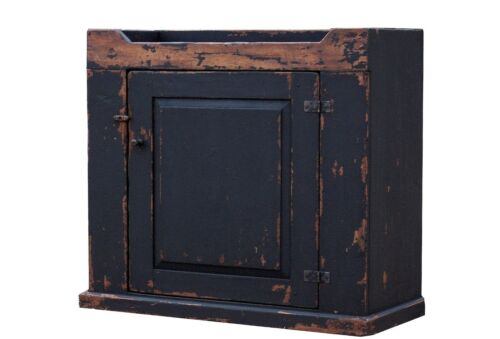 EARLY OLD AMERICAN PRIMITIVE FURNITURE PAINTED KITCHEN COUNTRY DRY SINK CABINET