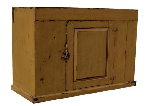 EARLY AMERICAN FARMHOUSE PAINTED COUNTRY PRIMITIVE DRY SINK RUSTIC CABINET PINE