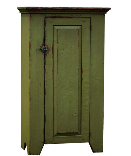 PAINTED COUNTRY FARMHOUSE RUSTIC CHIMNEY PRIMITIVE CUPBOARD CABINET FURNITURE
