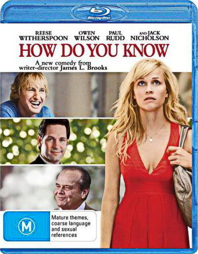 How Do You Know - Comedy / Romantic - Reese Witherspoon - NEW Bluray