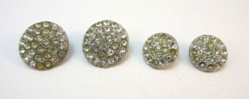 SILVER TONE RHINESTONE ENCRUSTED BUTTONS  **