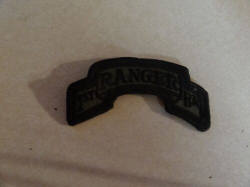 Patch Military Shoulder Tab 1st Ranger Battalion Scroll Subdued Sew On New 4 In.