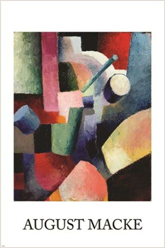 CUBIST PRINT august macke COMPOSITION OF FORMS vintage art poster 24X36 NEW
