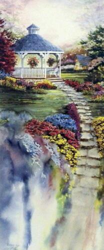 "Mike Capser ""Blossoms and Promises"" Garden Print Image Size 12.5"" x 30"""