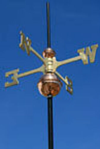 WEATHERVANE COMBO SET BRASS DIRECTIONALS & COPPER BALLS