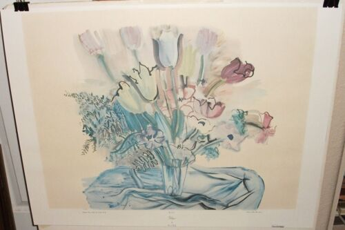 "RAOUL DUFY ""TULIPS"" LARGE COLOR LITHOGRAPH"