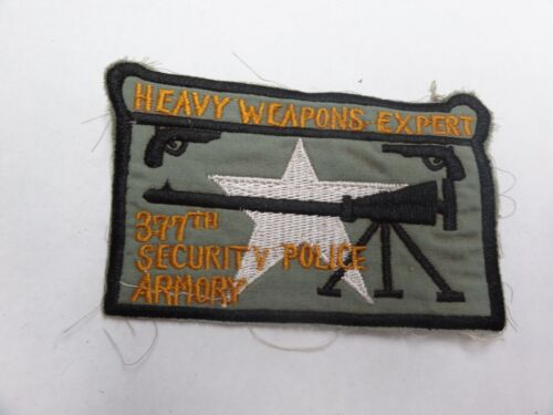 Military Patch Old Vietnam Era Theater Made Heavy Weapons Expert 377th Security