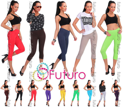 Cotton Leggings 3/4 Length Cropped Summer Pants Cyclist All Colours and Sizes