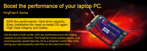 Speed Up your old HDD 5 x times Kingfast K13 Laptop Ultra Cache SSD 32GB
