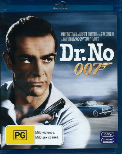 Dr No - James Bond 007 - Action / Violence / Crime - Sean Connery - NEW Blu-Ray