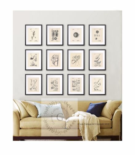 Retro Golf Prints set of 12 Wall Hanging Home Decor golf decor gift for men
