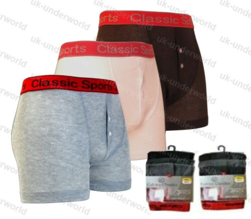 3 Pairs Mens Classic Red Band Waistband Boxer Shorts Trunks Briefs Adults