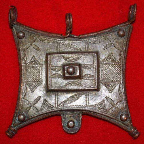 Antique Tuareg Tcherot Amulet Tribal Pendant Collected In Niger, Africa