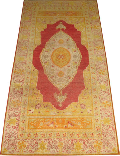 Antique Gorgeous Turkish Oushak Ushak Sivas Rug Size 2'9''x5'8''