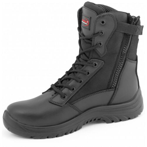 ARMA Safety Boots Zip Side Steel Toe Cap Combat boots A6