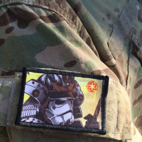 Star Wars Stormtrooper Samurai Morale Patch Military Tactical Army Flag USA HookArmy - 48824