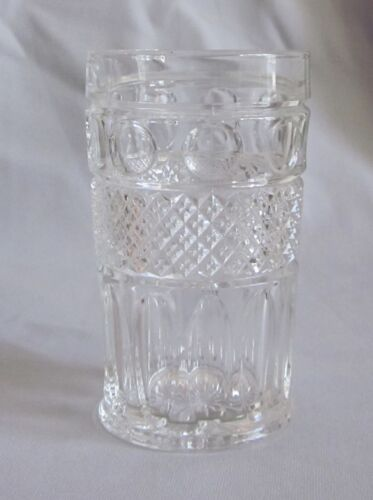 11 Oz Flat Tumbler Imperial Glass Tradition Pattern Clear