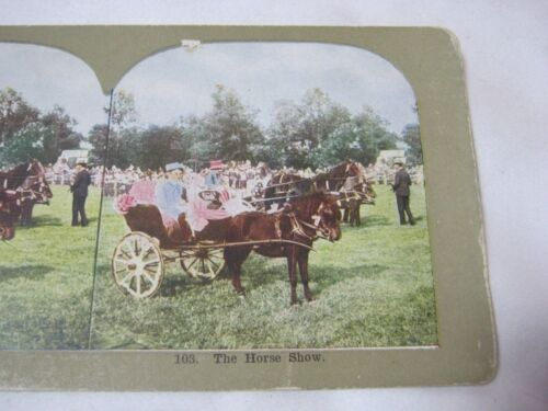 THE HORSE SHOW ANTIQUE STEREOVIEW  STEREO CARD     T*