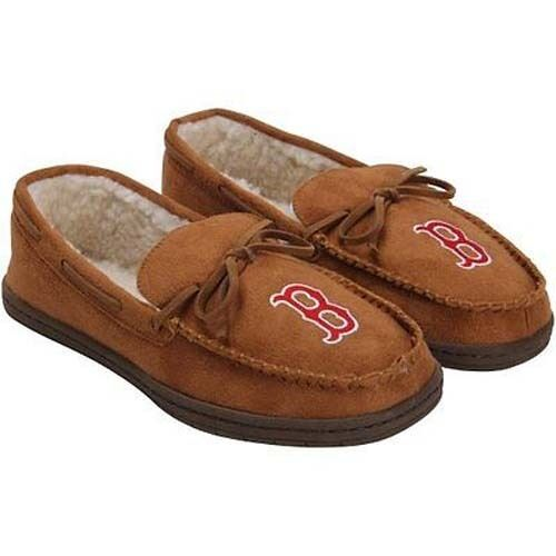 Forever Collectible MLB Boston Red Sox Moccasins Slippers New