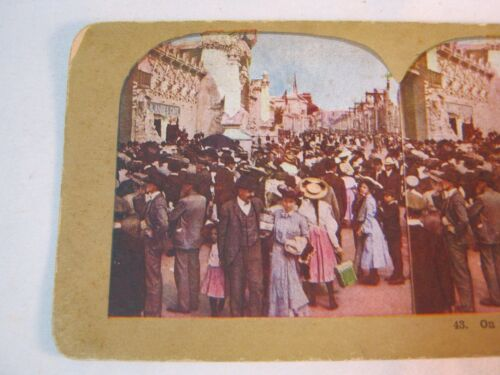 ON THE PIKE 1904 WORLD'S FAIR ST LOUIS  STEREOVIEW STEREO CARD    T*
