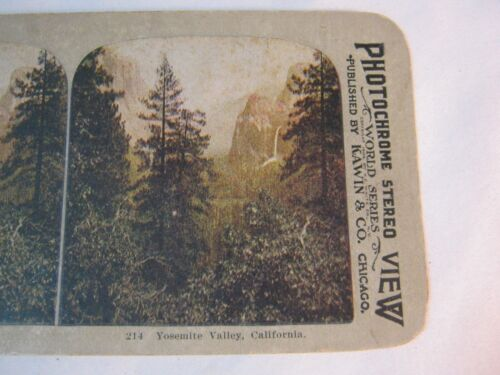 YOSEMITE VALLEY CA  STEREOVIEW STEREO CARD    T*