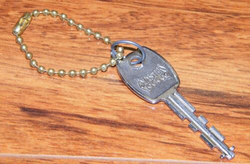 Vintage Master Lock Co. Milwaukee Key! w/ Gold Toned Key Chain! Made In USA