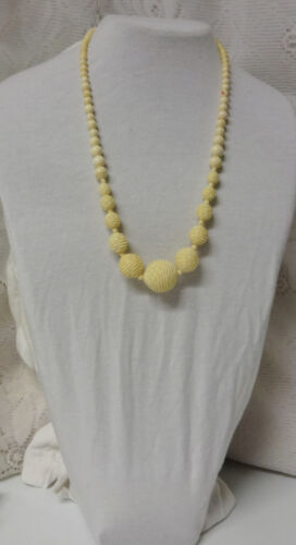 Antique Vintage Chinese Export Carved Spiral White Balls Beautiful Necklace