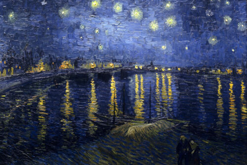 Vincent Van Gogh Starry Night Over the Rhone Giclee Fine Art Canvas Print