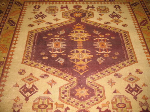 Antique Indian Amristar Rug Size 9'x9'7''