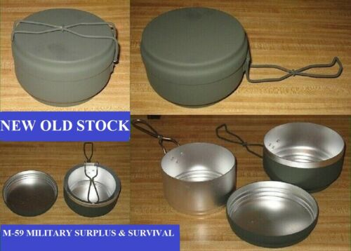 3 PC.CZECH ARMY O.D. ALUMINUM MESS KIT -  NEW OLD STOCK - NEVER ISSUED OR USEDMess Kits - 158443