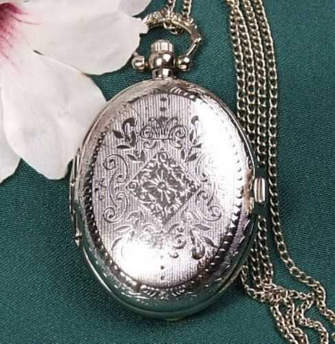 Gorgeous Bridesmaids Gift Silver Plated Locket Watch 1