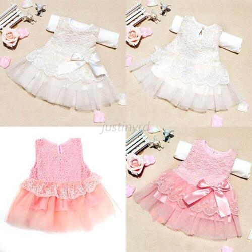 Girls Cute Flower Toddler Baby Princess Party Pageant Wedding Tulle Tutu Dresses
