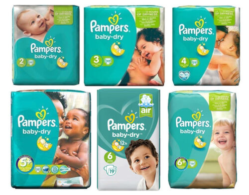 Pampers Baby Dry Nappies (Choose Your Option)