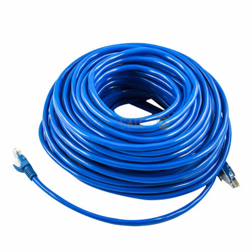 100' FT Feet CAT6 CAT 6 RJ45 Ethernet Network LAN Patch Cable Cord 30M Blue New