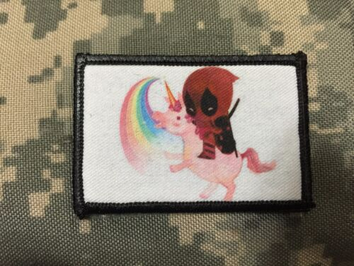 Deadpool Movie Unicorn Morale Patch Funny Tactical ARMY Hook Military USA FlagArmy - 48824