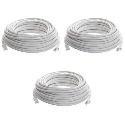 3 x 50ft FEET White Internet LAN CAT5e Network Cable for Computer Modem Router