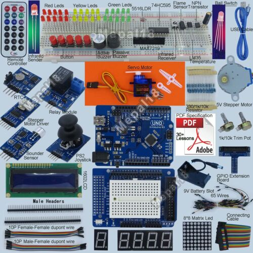 New Ultimate UNO R3 Starter Kit for Arduino 1602LCD Servo Motor RTC AU Shipping