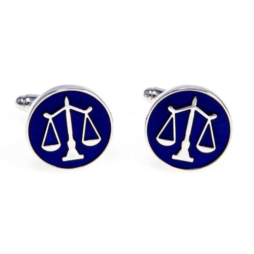 Scales of Justice Attorney Lawyer Cufflinks Wedding Gift Box & Polishing Cloth