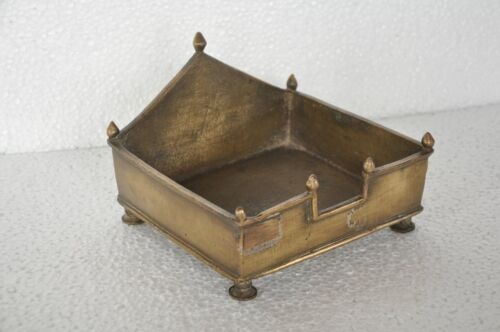1940's Old Brass Solid Handcrafted Idol / Statue Stand / Throne , Rich Patina