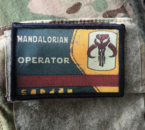 Star Wars Mandalorian Operator Morale Patch Tactical ARMY Hook Military USA Army - 48824