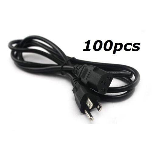 Lot of 100PCS 4ft Computer PC Monitor 3 Prong Power Cord Cable  COMPUTER