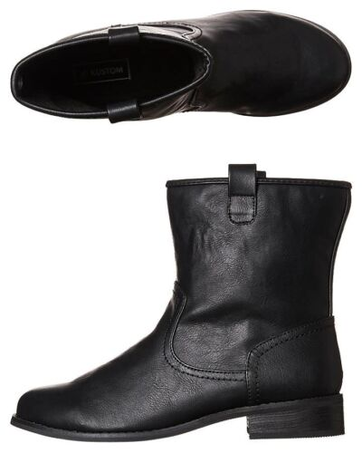 Women's KUSTOM Georgia Leather Look Ankle Boots / Shoes, Size 6. NIB, RRP $79.99