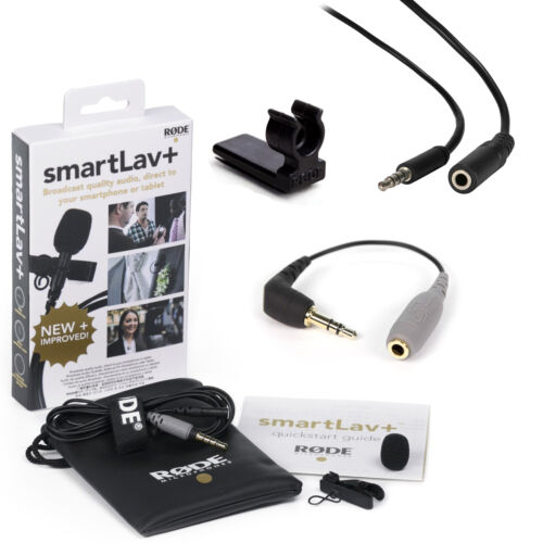 RODE smartLav+ with SC3, Vampire Clip, and 2m Extention Cable
