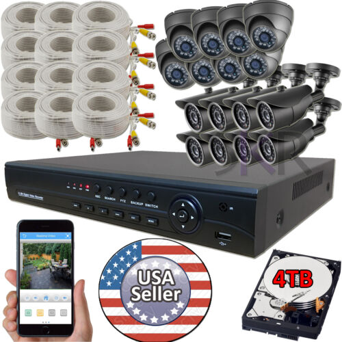 Sikker 16 CH Channel AHD CCTV DVR 1080P 2 Megapixel Camera Security System 4TB