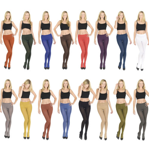 40 60 100 denier, Womens LADIES Opaque Microfibre TIGHTS  <br/> **All Colours and Sizes, High Quality **