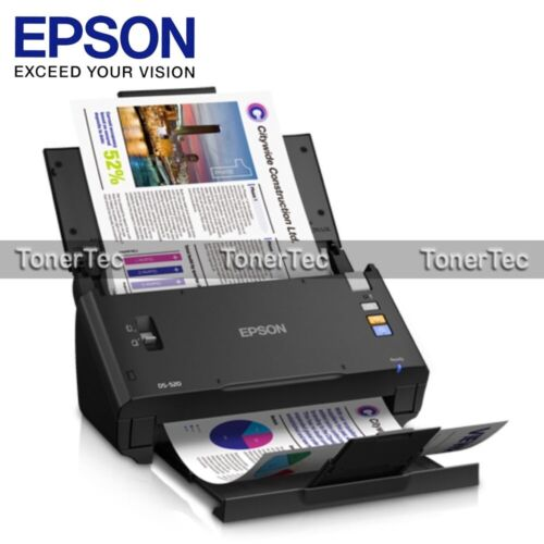 Epson WorkForce DS-520 A4 Sheet-Fed USB Color Document Scanner [P/N:B11B234501]