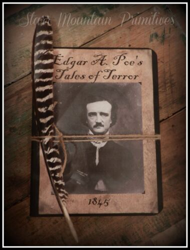 Primitive Halloween Edgar Allan Poe Spooky Journal Cupboard Tuck