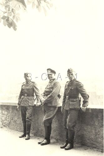 WWII German Large Army RPPC- Officer- Iron Cross Medal- Pistol Holster- BayoPhotographs - 104000