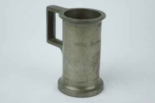 Antique french pewter measure / tankard ca. late 19th C. marked [Y7-W6-A9-E9]