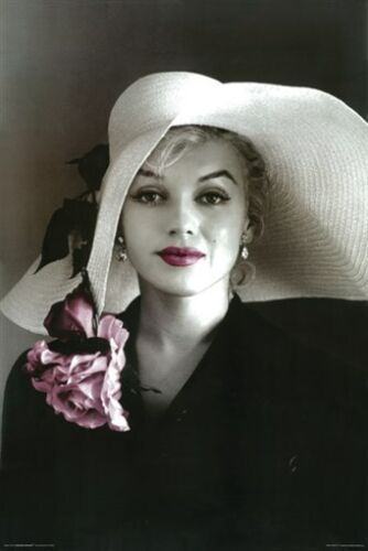 MARILYN MONROE POSTER Hat Pink Lips RARE HOT NEW 24x36